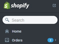 shopify control panel