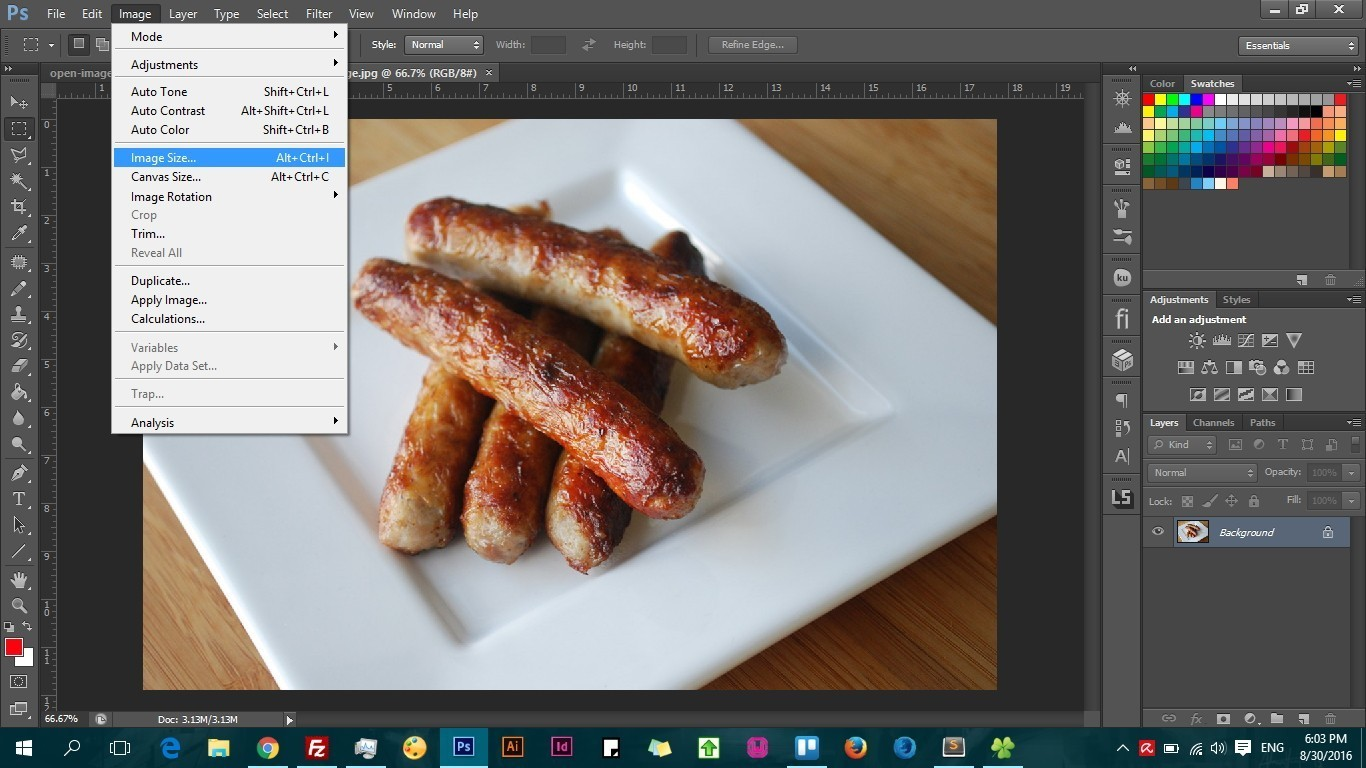 How to optimize and resize an image for the web using adobe photoshp
