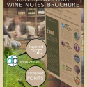 Brochure & Flyers – FREE To Download Wine Notes PSD [flyer]