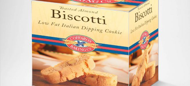 Biscotti box layered Gimp product packaging free mockup