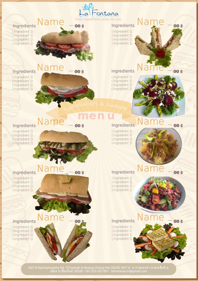 Food packaging mockup free SVG to download sandwich menu made on inkscape