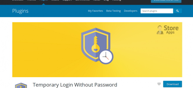 Temporary Login Without Password Wordpress Plugin