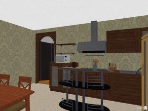 kitchen design with planner5D